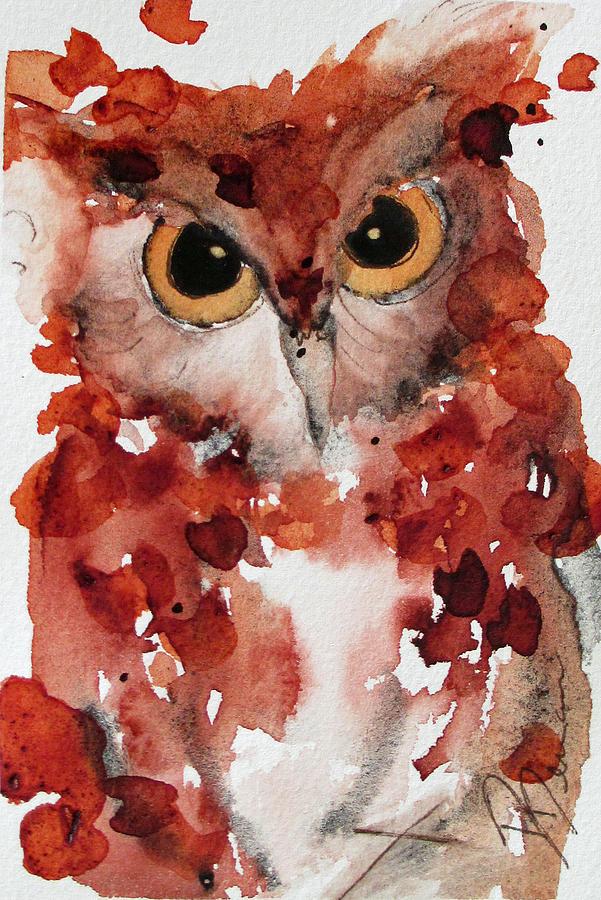 Original Watercolor Painting - Screech by Dawn Derman