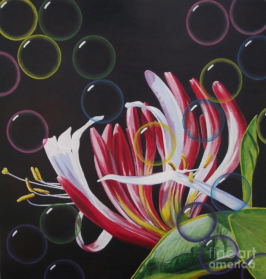 Honeysuckle Painting - Screensaver by Devon Featherstone