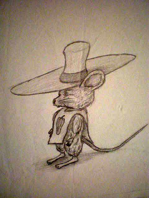 Mouse Drawing - Scribble Mouse by Steve Spagnola