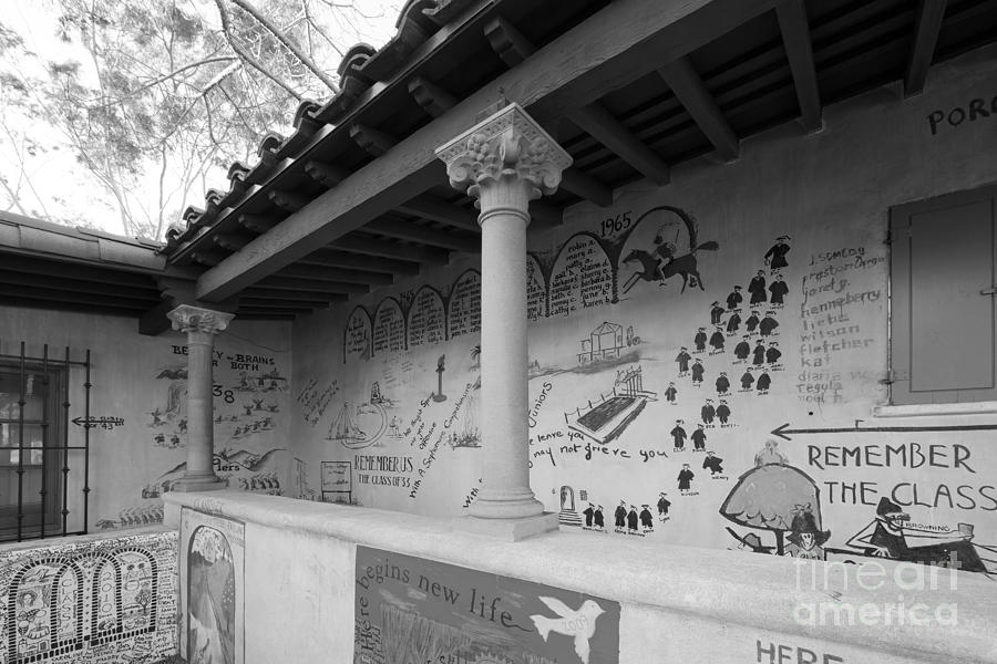 Athenas Photograph - Scripps College Graffiti Wall by University Icons