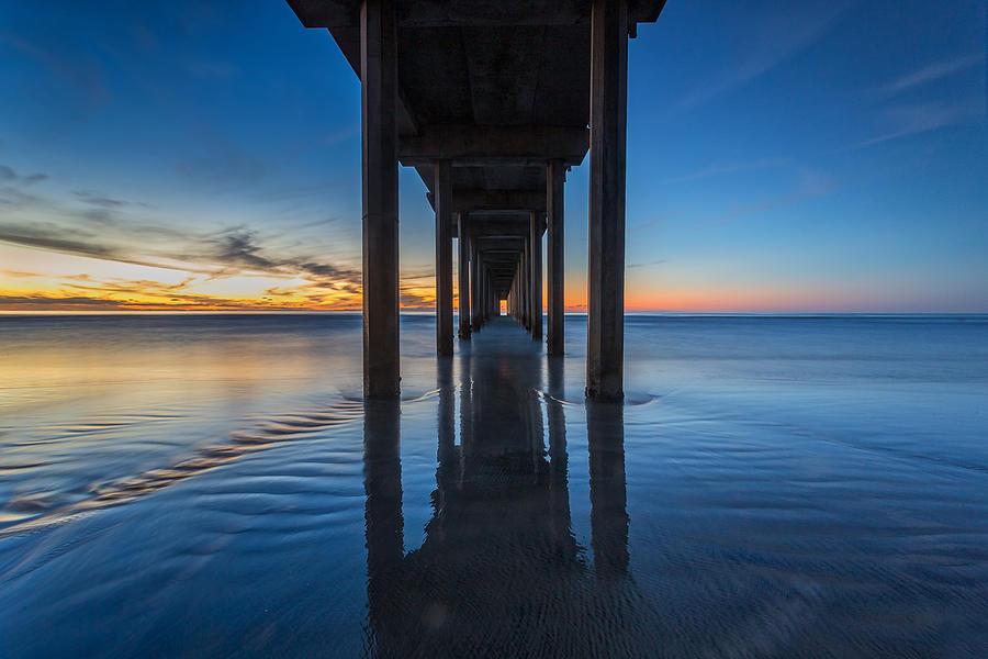Scripps Pier Blue Hour Photograph