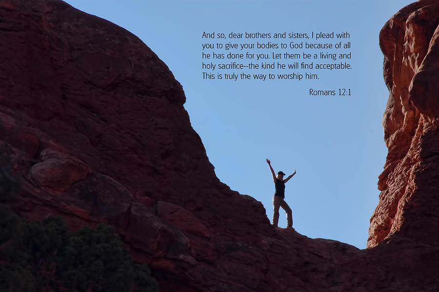 Bible Verses With Pictures Photograph - Scripture And Picture Romans 12 1 by Ken Smith