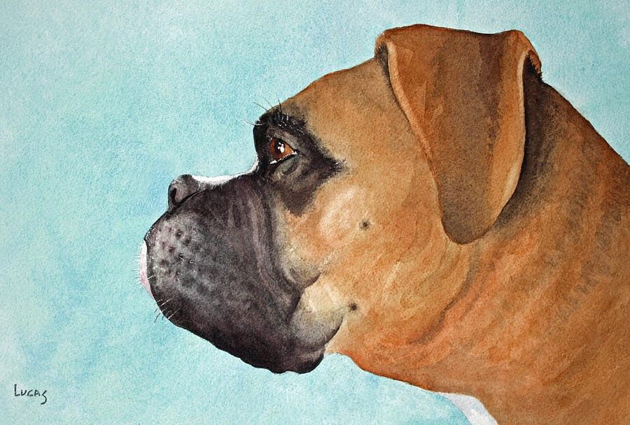 Dog Painting - Scuba by Jeff Lucas