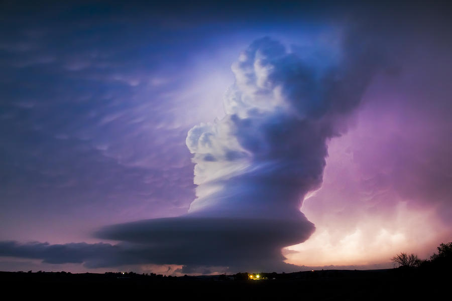 Supercell Photograph - Sculpted At Twilight by Evan Ludes