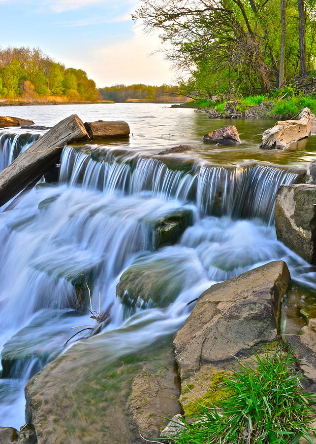 Sculpted Photograph - Sculpted Falls by Frozen in Time Fine Art Photography