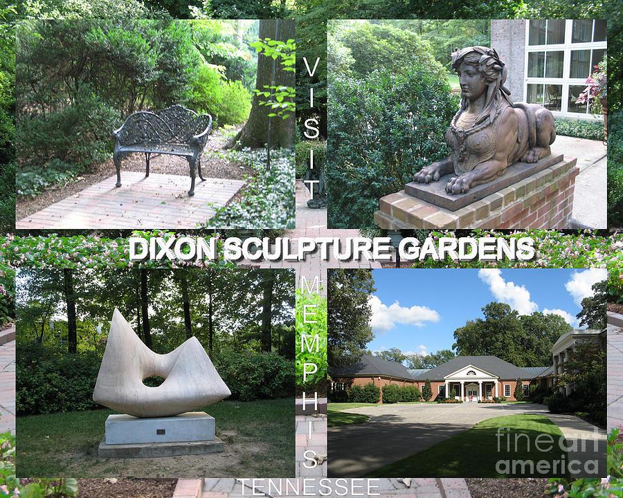 Note Card Digital Art - Sculpture Garden Postcard by Karen Francis