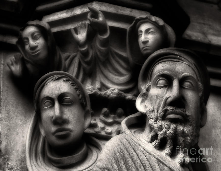 Sculptured Faces Photograph