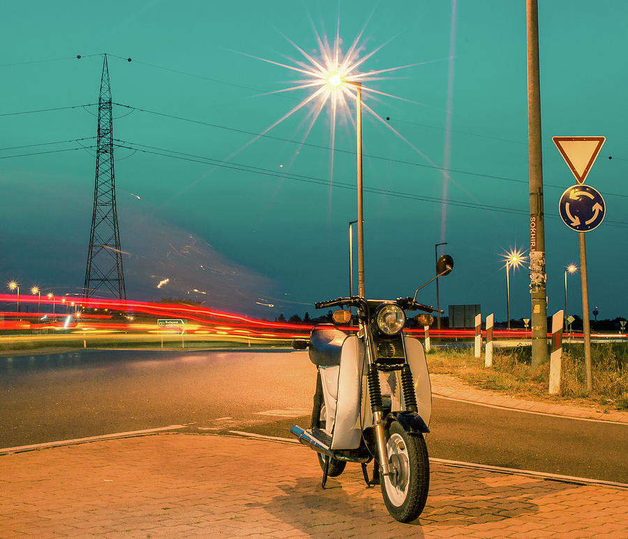 Tranquility Photograph - Scuter Or Motorcycle by ...