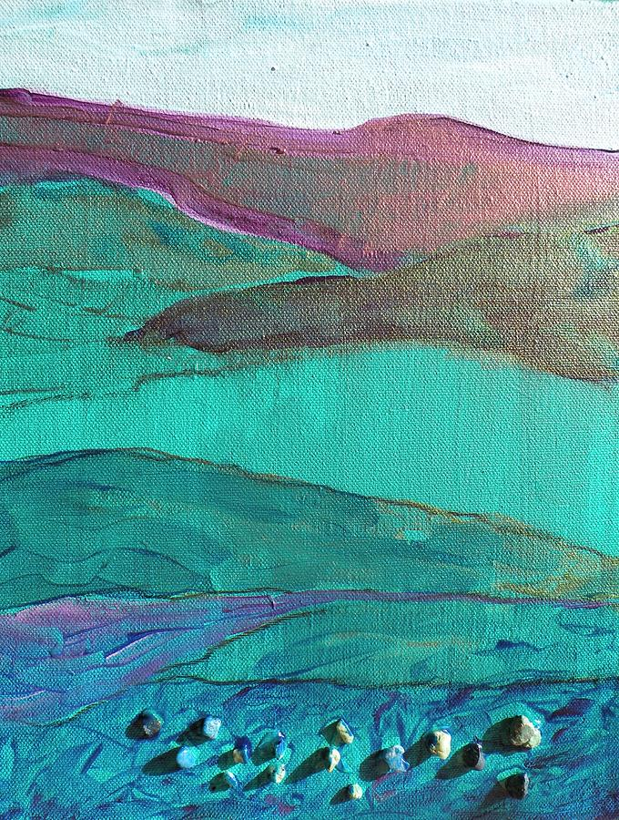 Landscape Painting - Sea And Land by Lori Chase