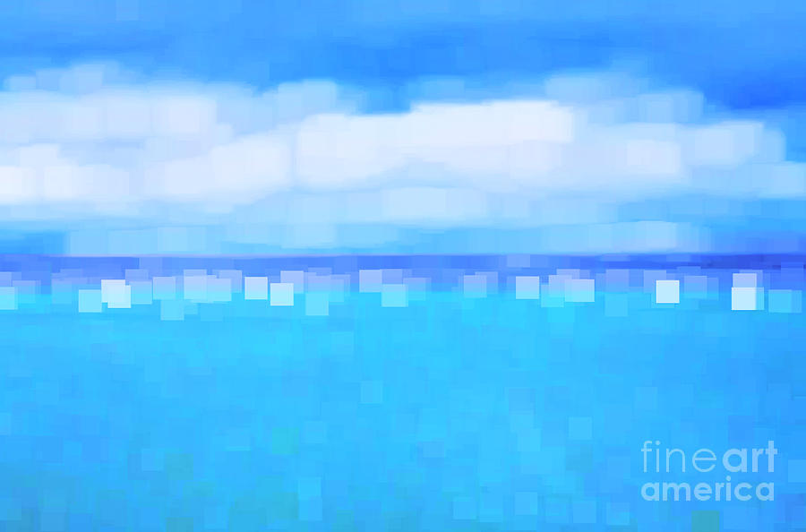 Abstract Photograph - Sea And Sky Abstract by Natalie Kinnear