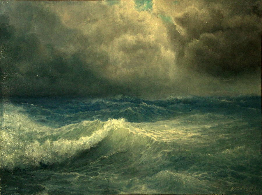 Seascape Painting - Sea And Sky by Mikhail Savchenko