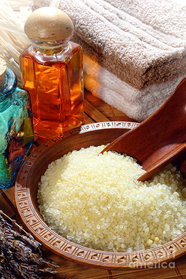 Aromatherapy Photograph - Sea Bath Salts by Olivier Le Queinec