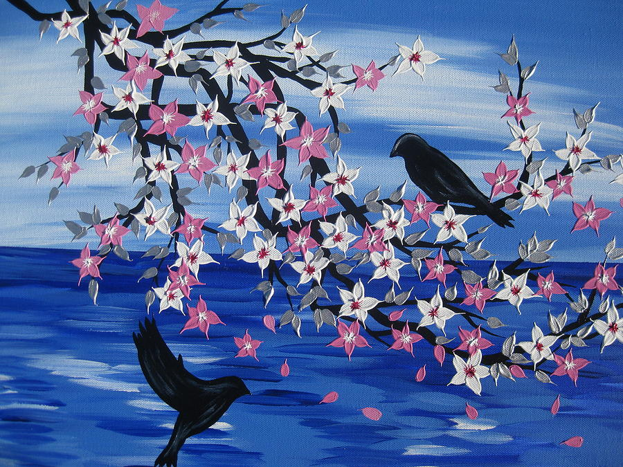 Cherry Blossom Painting - Sea Blossoms by Cathy Jacobs