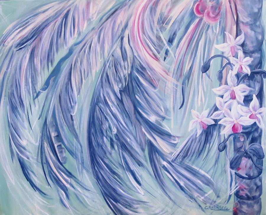 Palms Painting - Sea Breeze by Carol Allen Anfinsen