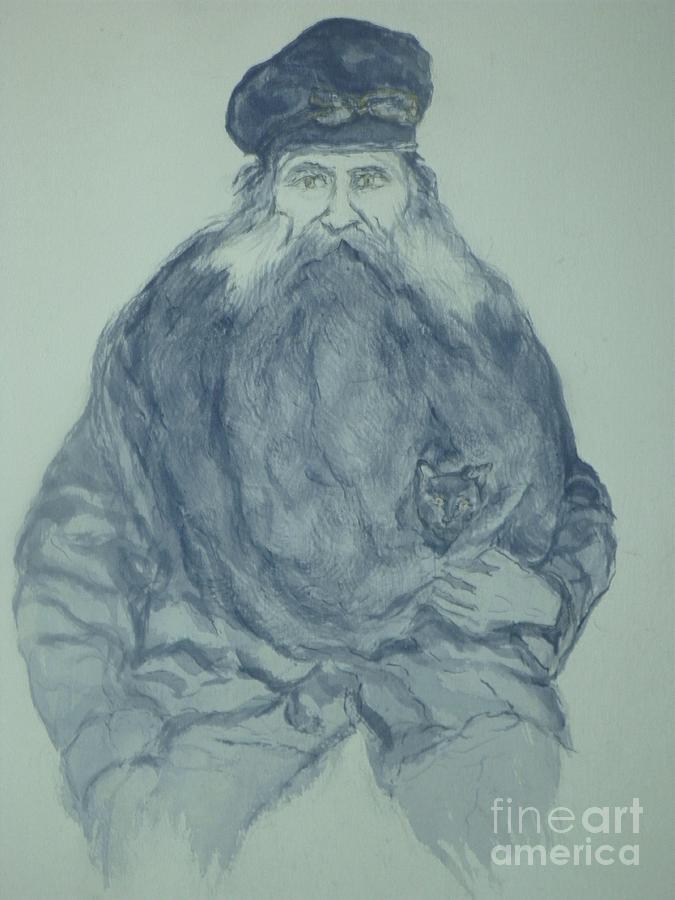 Sea Captain Painting - Sea Captain by Nancy Caccioppo