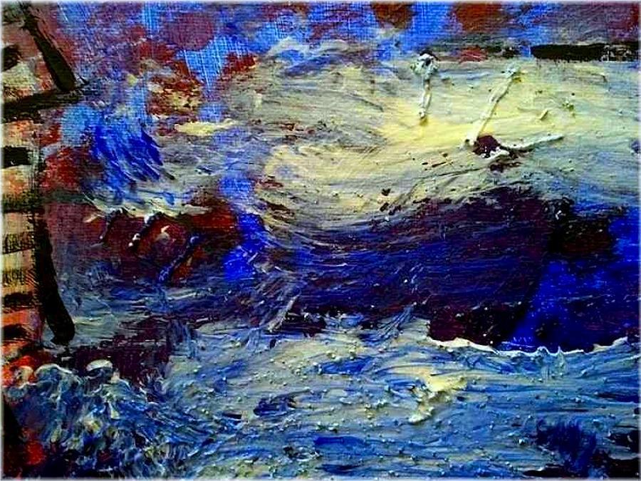 Sea Painting - Sea Desaster by Mirko Gallery