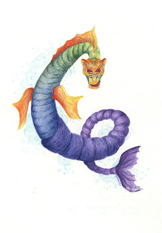 Sea Dragon Painting - Sea Dragon by Kathleen Keller