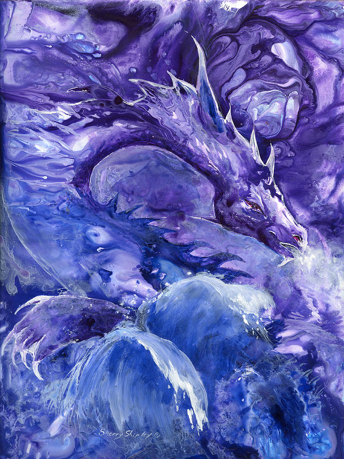Dragon Painting - Sea Dragon by Sherry Shipley