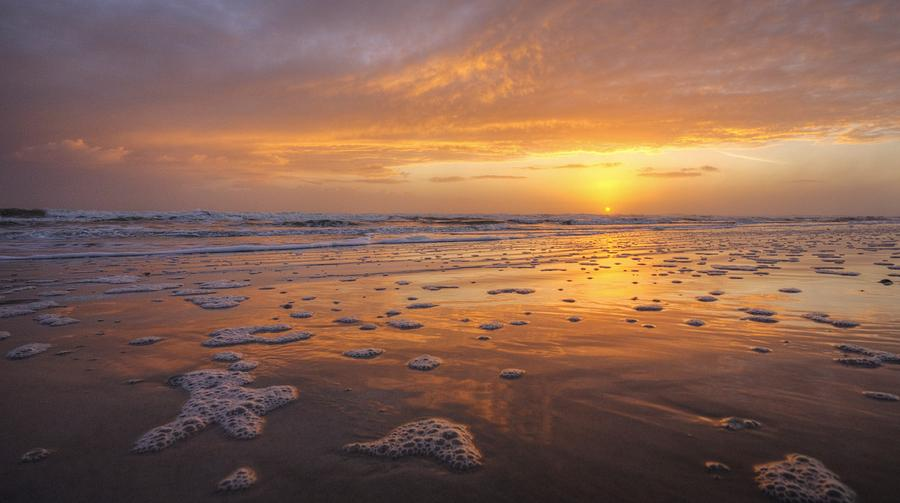 Sunrise Photograph - Sea Foam Sunrise by Danny Mongosa