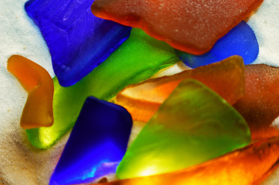 Sand Photograph - Sea Glass II by Sherry Allen
