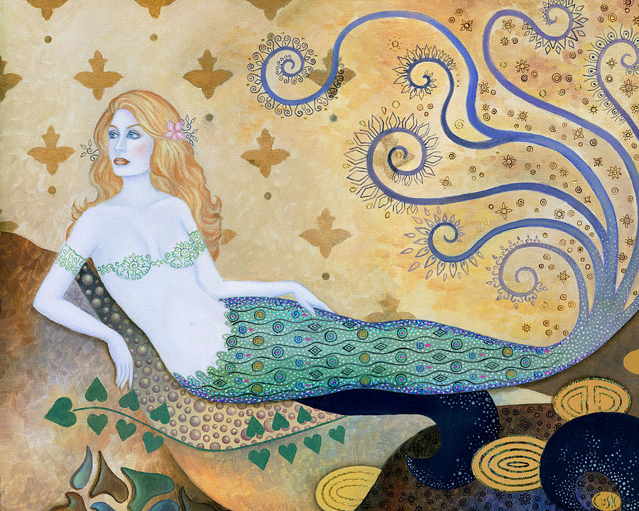 Mermaid Painting - Sea Goddess by B K Lusk