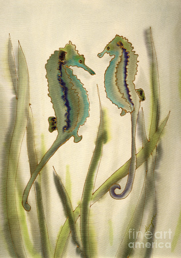 Seahorse Painting - Sea Horses by Addie Hocynec