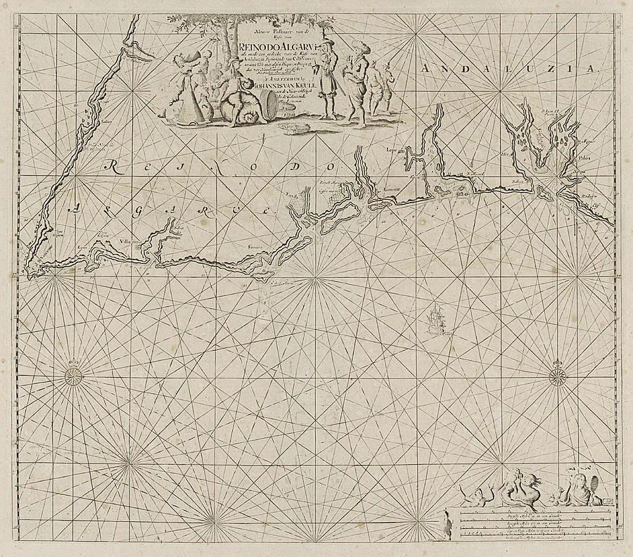 South Coast Of Spain Map.Sea Map Of Part Of The South Coast Of Portugal And Spain By Jan Luyken And Anonymous And Johannes Van Keulen I