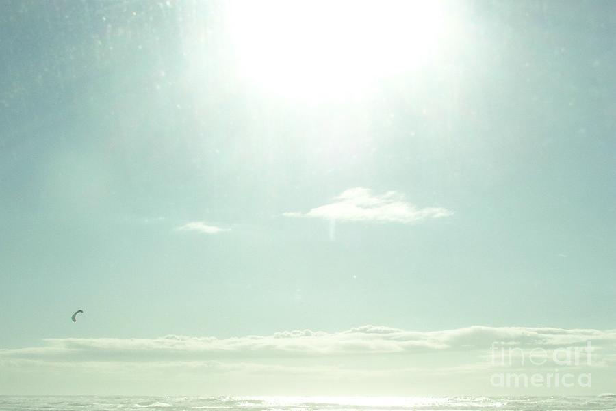 Sea Photograph - Sea Meets The Sky by Nancy Worrell