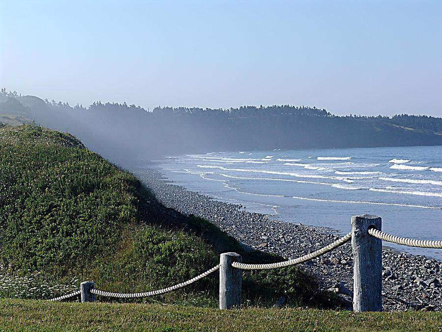 Nova Scotia Mixed Media - Sea Mist by Janet Ashworth