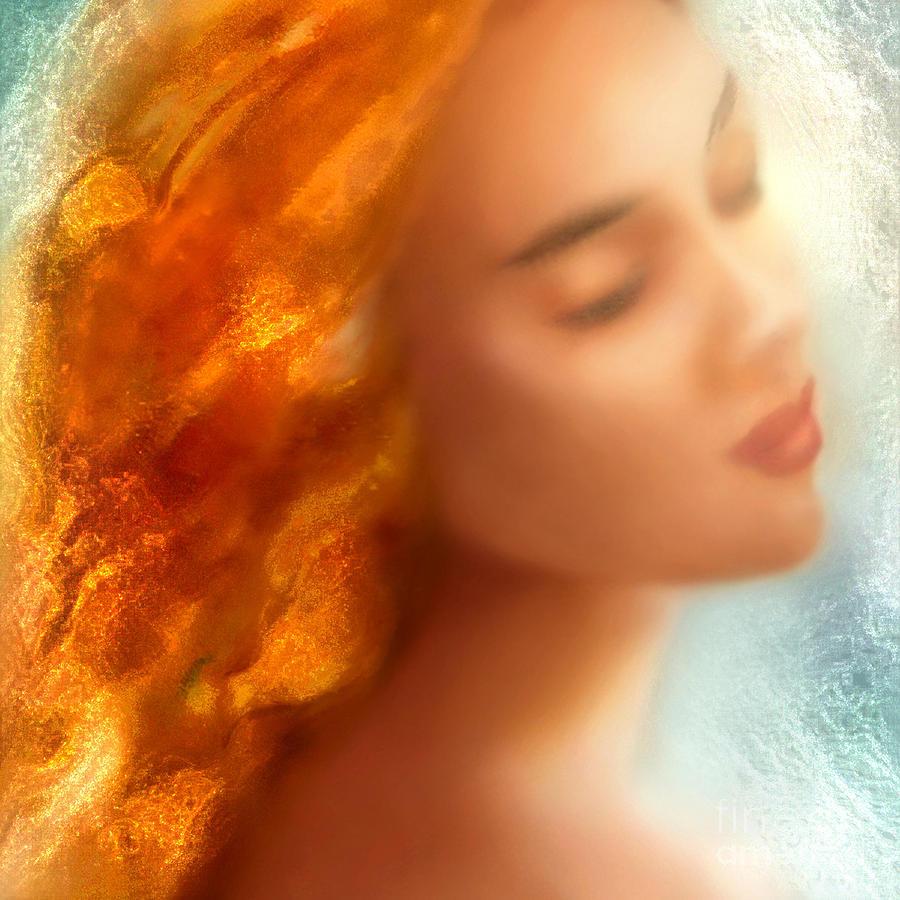 Mermaid Painting - Sea Nymph Dream by Michael Rock