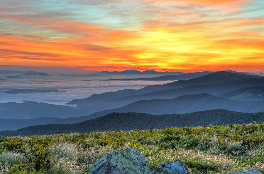 Roan Mountains Photograph - Sea Of A Sunrise by Mary Anne Baker
