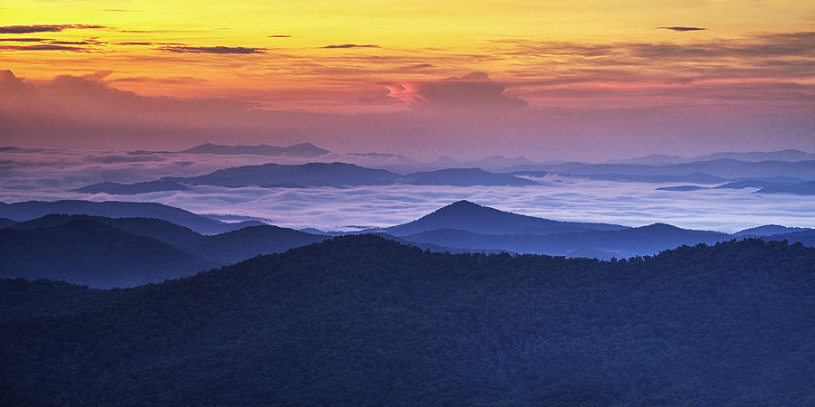 Sunrise Photograph - Sea Of Clouds At Sunrise by Andrew Soundarajan