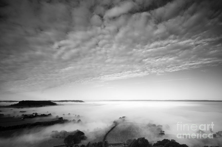Atmospheric Photograph - Sea Of Fog by Anne Gilbert