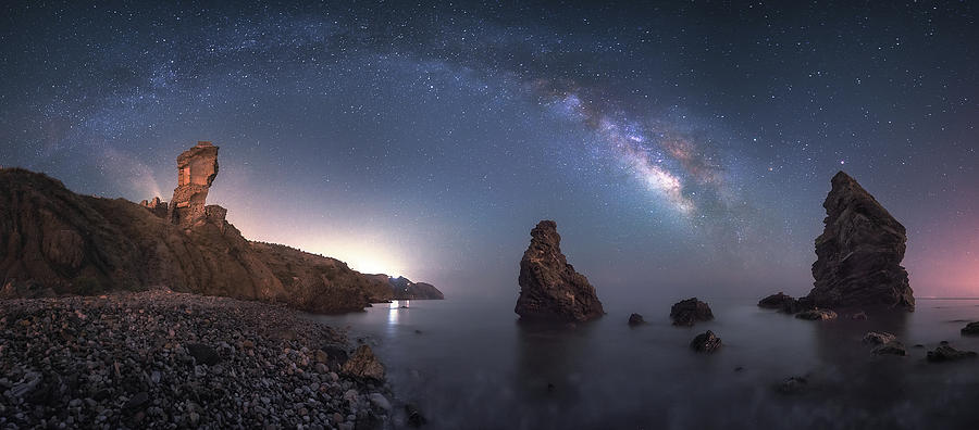Milkyway Photograph - Sea Of Galaxies by Juan Facal Photography