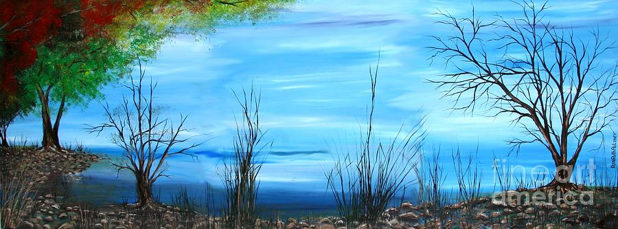 Sea Of Galiley Shore Painting by Roni Ruth Palmer