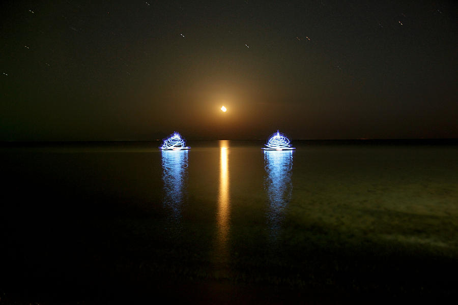Light Painting Photograph - Sea Phantoms by Sergey Churkin