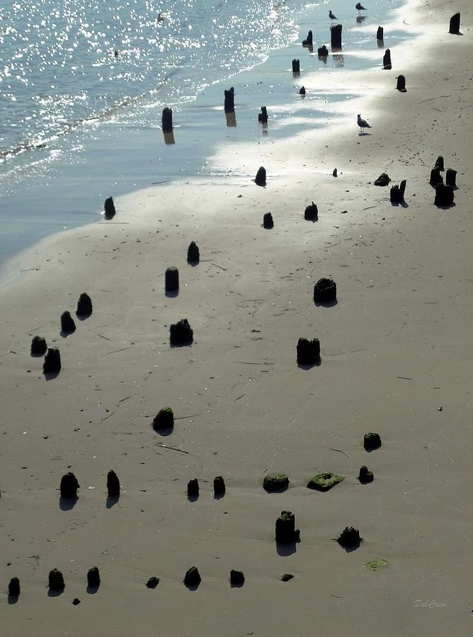 Sea Photograph - Sea Piles by Deborah  Crew-Johnson