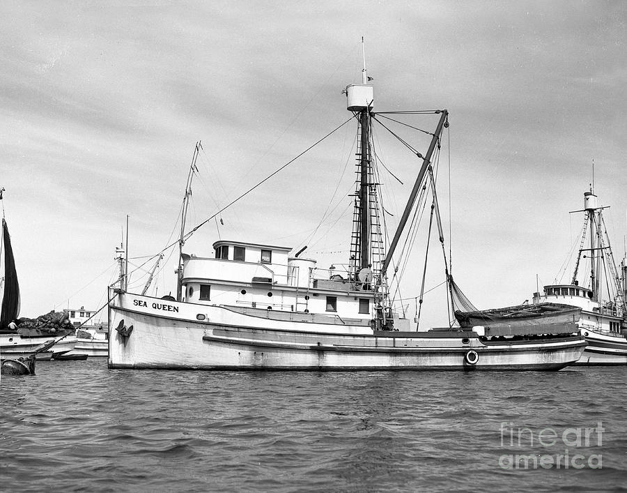 Purse Seiner Sea Queen Monterey Harbor California Fishing Boat Purse Seiner Photograph by ...