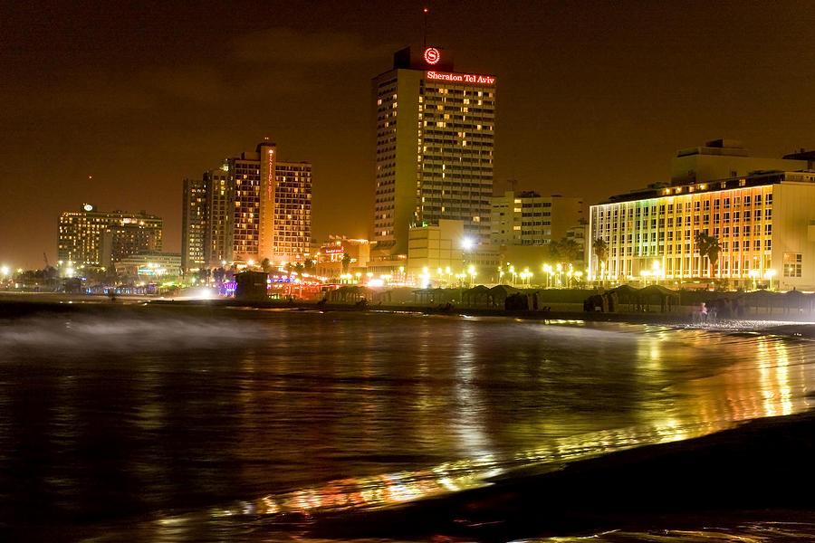 Waves At Night Photograph - Sea Shore At Night by Isaac Silman