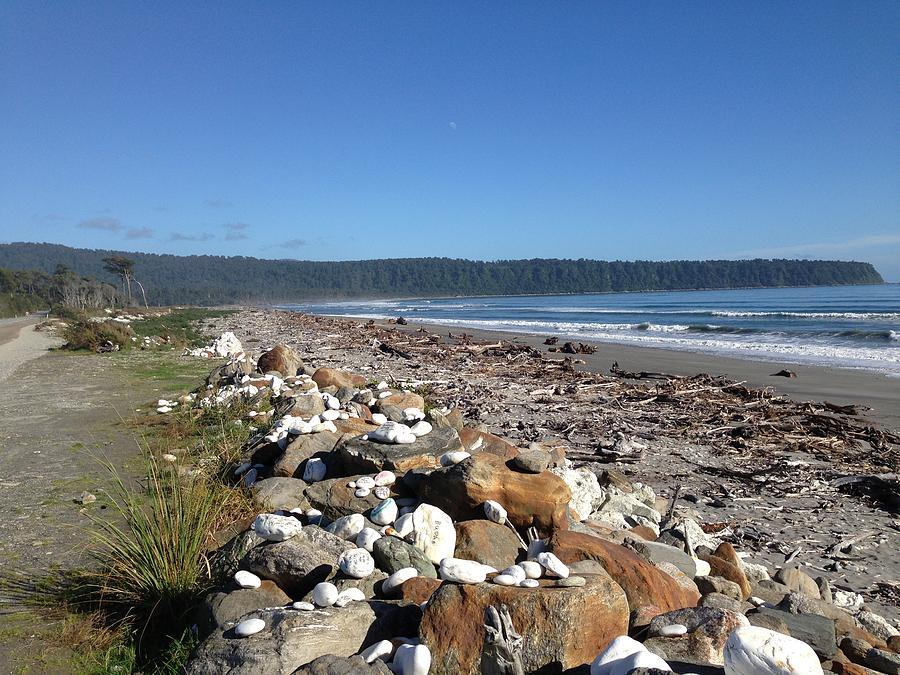 Sea Photograph - Sea Shore With Rocks by Ron Torborg