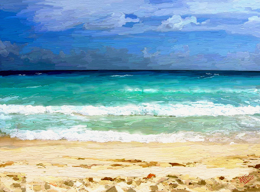 Impressionism Painting - Sea Sky Sand by James Shepherd