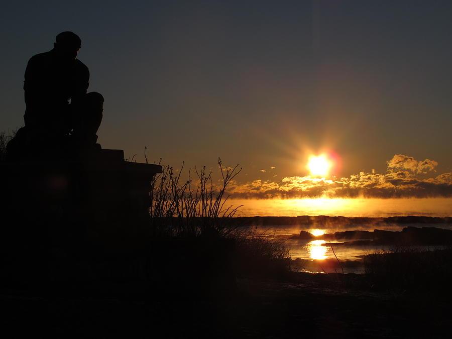 Sea Smoke Statue Photograph