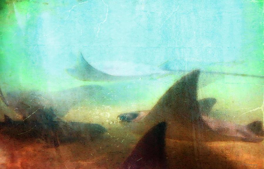 Ray Painting - Sea Spirits - Manta Ray Art By Sharon Cummings by Sharon Cummings