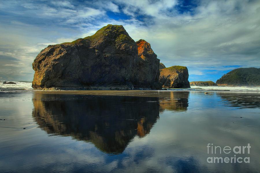 Meyers Creek Photograph - Sea Stack Swirls by Adam Jewell