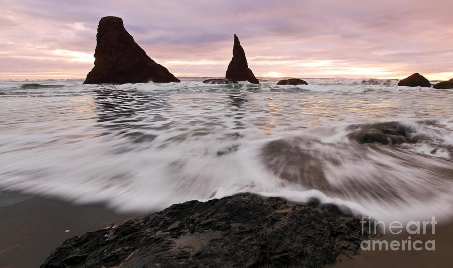 Sunset Photograph - Sea Stacks At Bandon by Vivian Christopher