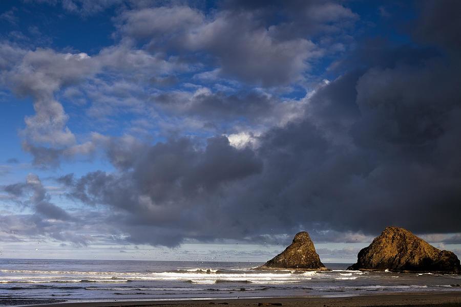 Sea Photograph - Sea Stacks At Dawn by Andrew Soundarajan