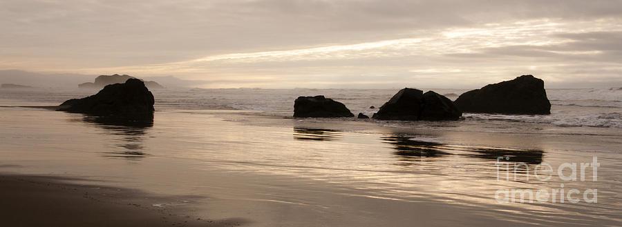 Sunset Photograph - Sea Stacks Panorama by Vivian Christopher
