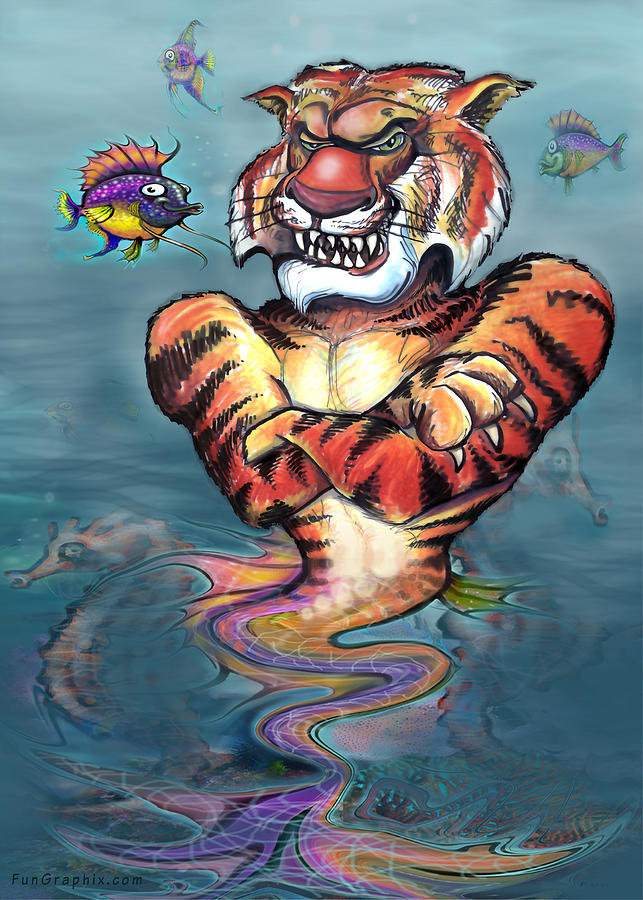Sea Tiger Painting
