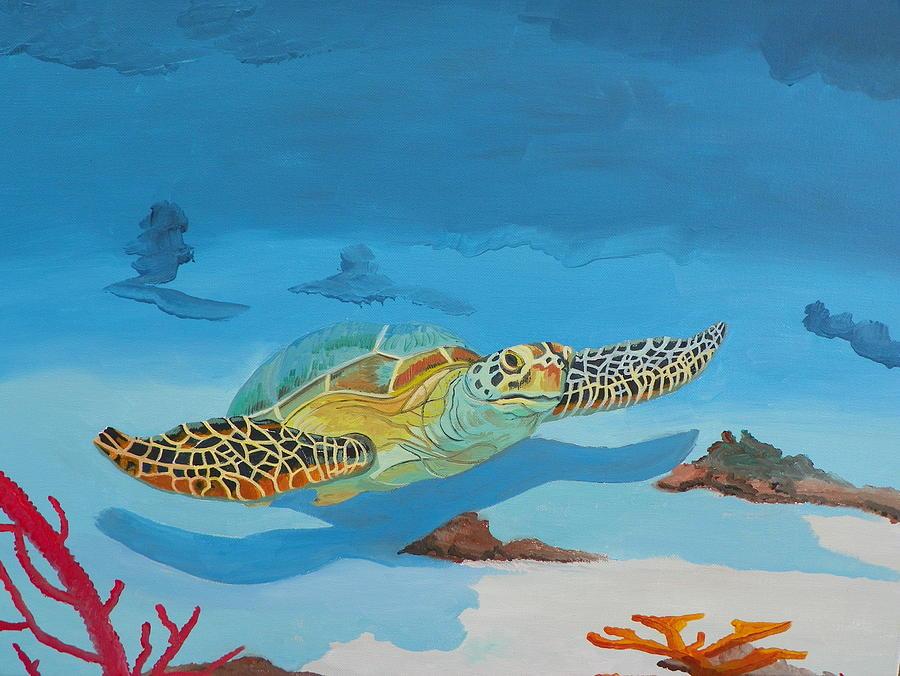 Turtle Painting - Sea Turtle by David Ellis