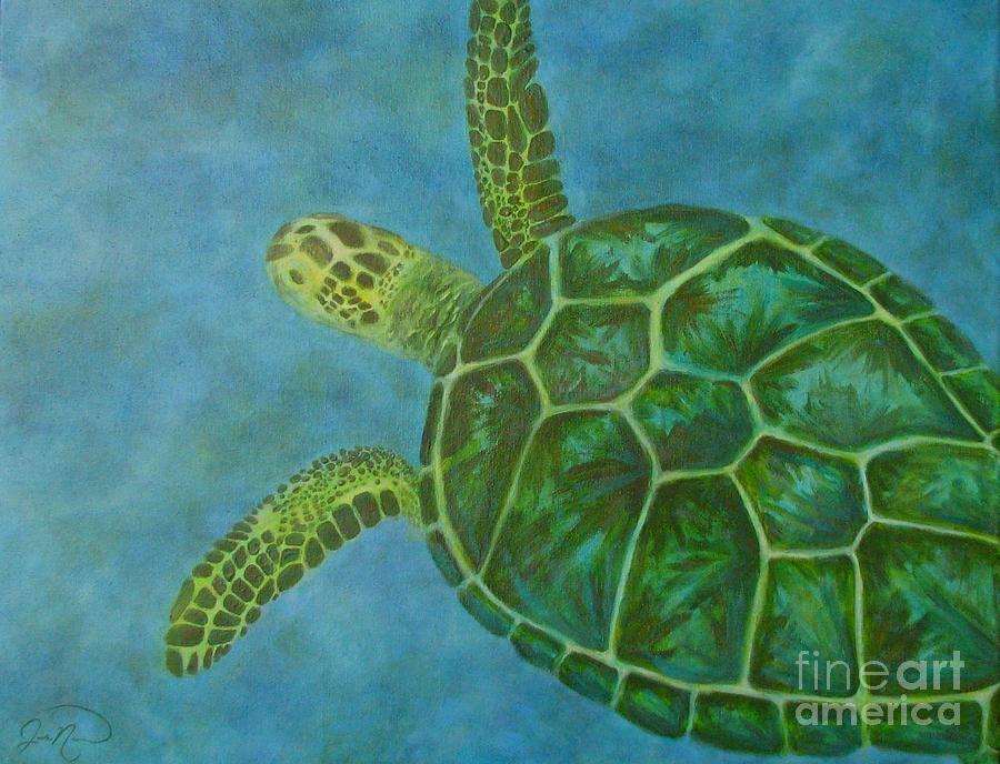 Underwater Painting - Sea Turtle by Julie Neuman